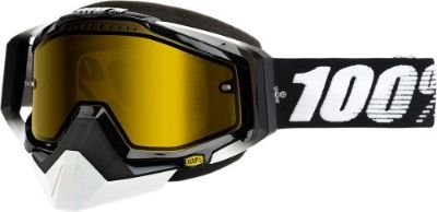 Sell 100% Racecraft Snow Goggles Black w/Yellow Lens 50103-001-02 motorcycle in Lee's Summit, Missouri, United States, for US $69.95