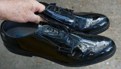 Army Dress shoes, made by Bates, size 13D