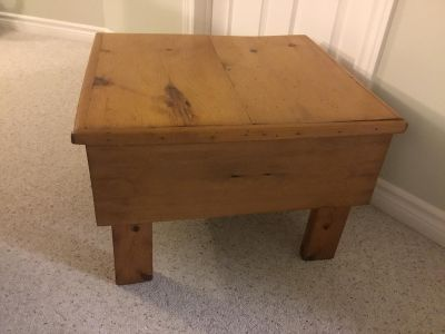 Wood Table with Storage