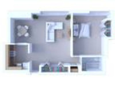 Oglesby Towers Apartments - One BR Floor Plan A4
