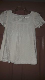 Cute eyelet baby doll style top