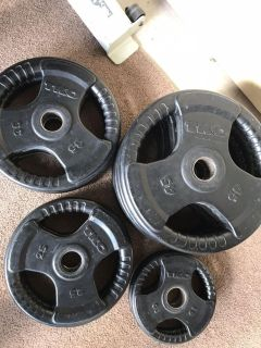300lb rubber coated olympic weight set-TKO