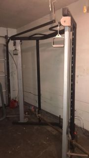 Cable trainer workout machine
