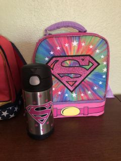Supergirl lunch box & water bottle