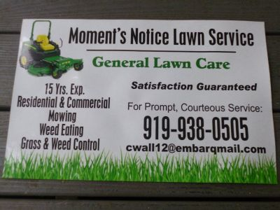 Moment's Notice Lawn Service