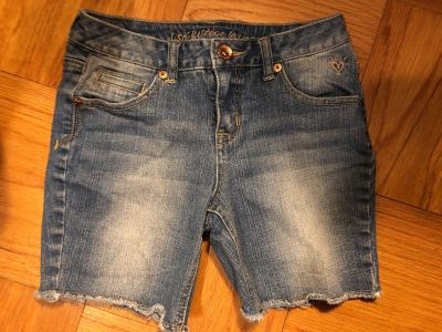Justice Blue Jean Shorts. Nice Condition. Size 14 Slim