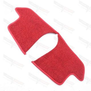 Purchase Corvette New Kick Panel Cover Loop Carpet Inserts Red w/ Foam Padding 1963-1967 motorcycle in Livermore, California, United States, for US $26.99
