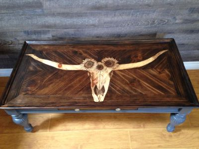 Custom stained coffee table