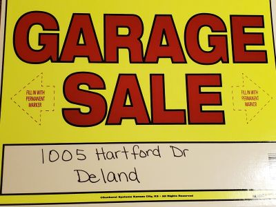 Garage/yard sale 7-12-19 7:00 -?