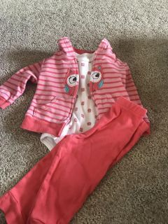 3 piece 18 month girl outfit