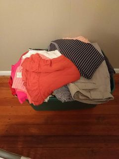 40+ pieces of womens sz xl shirts and pants