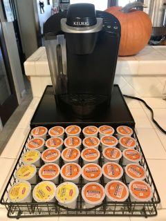 Kurig Coffee Maker with Tray and Dunkin Donuts Coffee