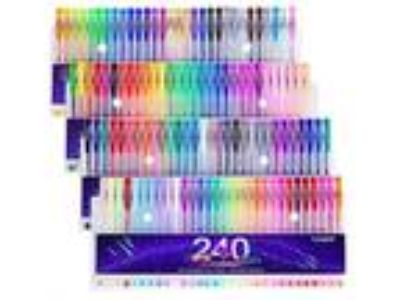 Tanmit 240 Gel Pens Set For Adults Coloring Books