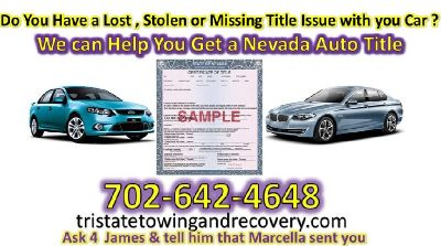 We do Auto Title Liens in Las Vegas Nevada