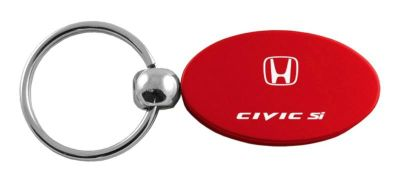 Find Honda Civic SI Red Oval Keychain / Key fob Engraved in USA Genuine motorcycle in San Tan Valley, Arizona, US, for US $14.61