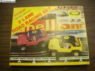 Vintage NIB Manx Buggy Slot Car Track/Cars