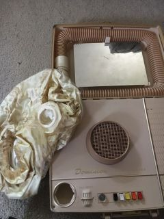 Vintage Dominion bonnet hair dryer in a case