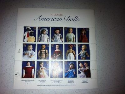 Classic American Dolls .32 Stamp Sheet - Exc