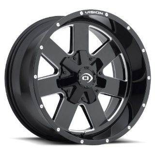 "Purchase 8 Lug 8x170 18"" Inch Ford F250 F350 Wheels Black n Milled Set of 4 Rims motorcycle in Saint Paul, Minnesota, United States, for US $635.00"
