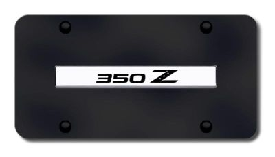 Buy Nissan 350Z Name Chrome on Black License Plate Made in USA Genuine motorcycle in San Tan Valley, Arizona, US, for US $33.38