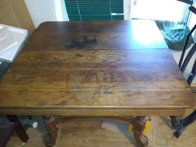 Want to trade antique all wood dining table for NICE Workbench with drawers/tool box
