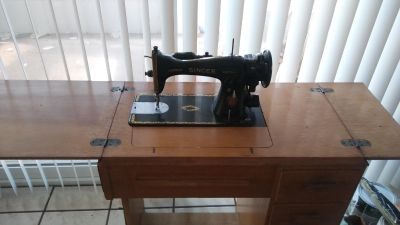 Antique sewing machine converted to Electric