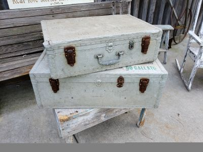 Cool old metal military suitcases!!!!!