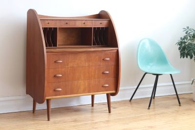 Mid Century Danish Modern Atomic Secretary Desk