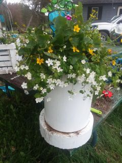 3foot tall very heavy wood flower stand