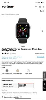 Apple Watch series 4 44mm in great condition , has cellular if needed with Verizon