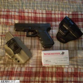 For Trade: GLOCK 23 3RD GEN W/ NS with extras.