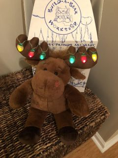 Build a bear moose with light up antlers