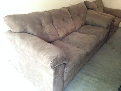 $250, Taupe colored Ashley Sofa and LARGE Chair LR Set