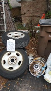 225 70r 17 factory ford rims with tires