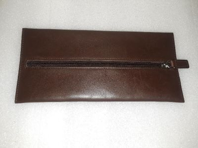 Coach Flat leather zippered case