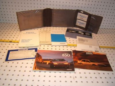 Sell Volvo 1997 850 Owners's OEM 1 set of 8 Manuals / papers Volvo Brown OEM 1 Pouch motorcycle in Roseville, California, United States, for US $97.00