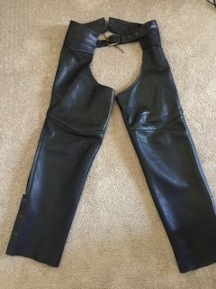LEATHER CHAPS SIZE ADULT XL