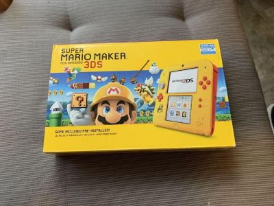 New in box super Mario maker 2ds system with preinstalled game