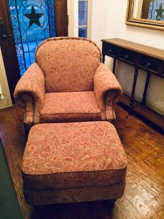 Chair and ottoman by Broyhill