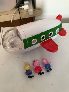 Peppa pig talking airplane