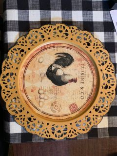 Chicken Plate from Hobby Lobby.. new