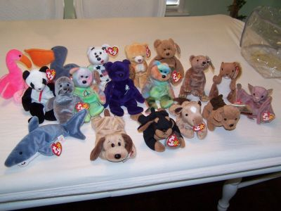 TY Beanie babies/set of 17