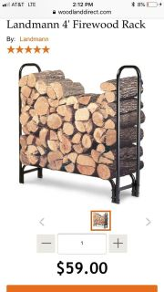 Brand new in box fire log storage