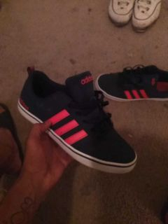 Red and blue adidas