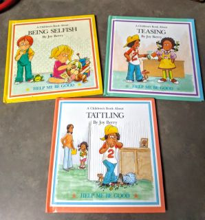 "CHILDREN'S ""HELP ME BE GOOD"" BOOK SET OF 3"