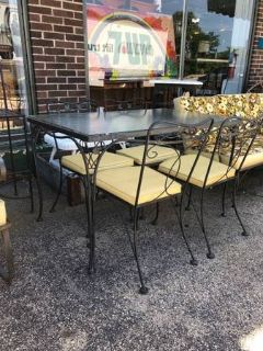 Mid Century Patio Dining Set