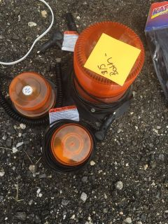 Plowing lights - pick up at yard sale today