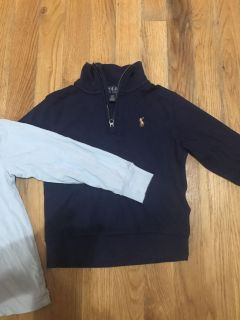 Polo Ralph Lauren pullover and LS Tee size 3t like new condition