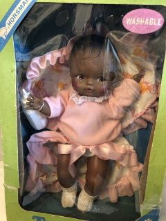 NIB Black Horsman Baby Doll Never Played With Great Christmas Gift