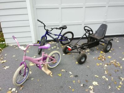 pedal cart and bikes
